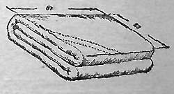 Полотнище плащ-палатки, свёрнутое для укладки