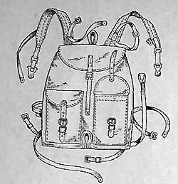 Облегченный ранец обр. 1941 г.(вид спереди)
