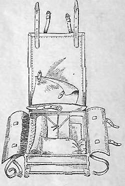 Укладка верхнего ряда ранца обр. 1936 г.