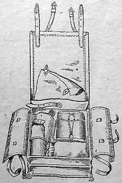Укладка верхнего рядя рамца обр. 1936 г. ( с укладкой котелка внутрь ранца)