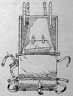 Укладка свертков полустоек и плащ-палатки в ранец обр. 1936 г.