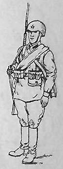 Стрелок-автоматчик в облегченном походном снаряжении