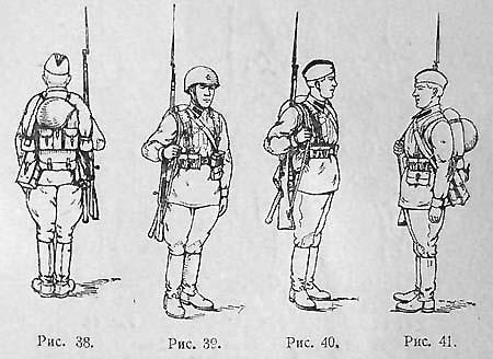Стрелок пехоты в полном походном снаряжении с надетым ранцем обр. 1941 г.