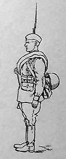 Стрелок пехоты в облегченном походном снаряжении